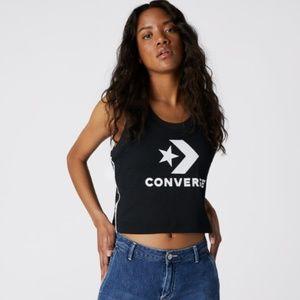 Converse WOMEN'S STRIPE TRACK MID TANK CROP NWT